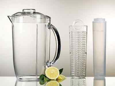 3-qt ICED Fruit Infusion Water Pitcher BPA Free Acrylic Rod Durable Serveware