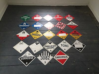 Wholesale Hazmat/placard Sign Business 13,000 Signs Plus