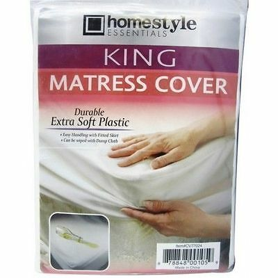 King Size Fitted Mattress Cover Vinyl Waterproof  Allergy Protector