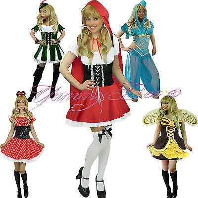 70113ebe6d1 Yummy Bee Fancy Dress Costume Mouse Bee Red Riding Robin Hood Plus Size  Womens