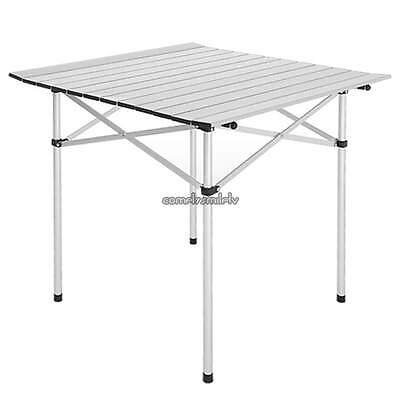 Aluminum Roll Up Table Folding Camping Outdoor Indoor Picnic Heavy Duty CLSV