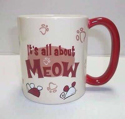 Gund Cat Mouse Coffee Mug IT'S ALL ABOUT MEOW New Cute!