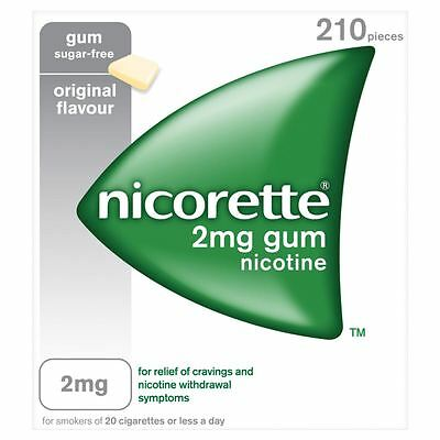 3 Packs of Nicorette Original 2Mg Gum 210's