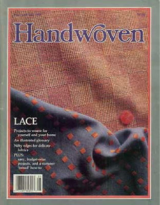 Handwoven magazine may-july 1988 lace curtain, towels, kimono, shawl, scarves +