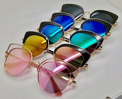 Wholesale Lots 12 Pairs New Fashion High Quality Unisex Metal Sunglasses-C8025M