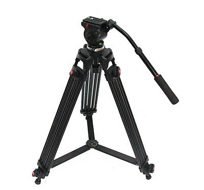 Professional Heavy Duty Photo Video Camera Tripod Stand Kit with Pan & Tilt Head