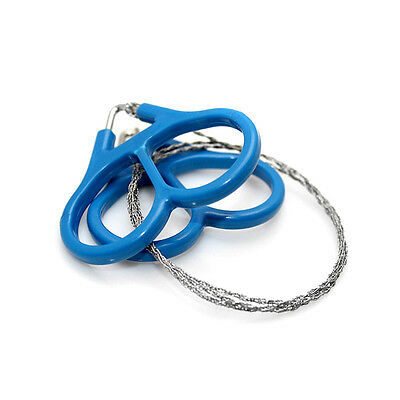 60cm Outdoor Plastic Steel Wire Saw Scroll Travel Hiking Hunting Survival Tool P