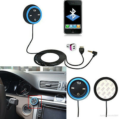 Hands free wireless Bluetooth Car Speaker Phone Kit &Music to Car Stereo