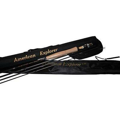 American Explorer 4 PC Fly Rod w/Case - Ported Aluminum Reel Seat