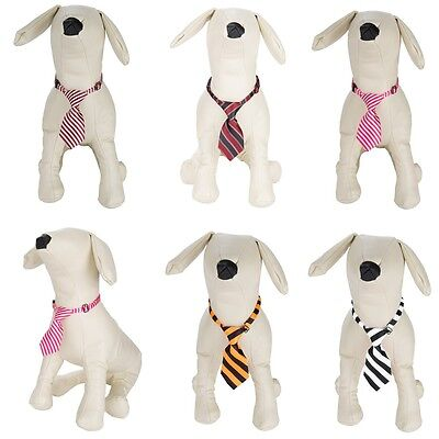 Cute Striped Dog Necktie Pet Adjustable Grooming Bow Tie Collar For Pet Puppy