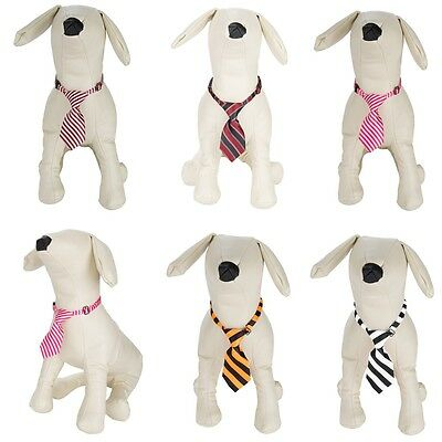 Cute Striped Dog Puppy Cat Kitten Necktie Pet Adjustable Grooming Bow Tie Collar