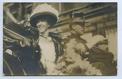 C1910 Rp Pu Postcard King Albert 1St Of Belgium & Queen Elisabeth R6