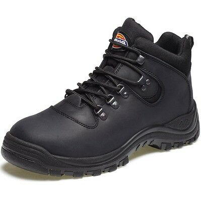 """Mens Dickies """"Fury"""" Lace Up Black Work Safety Boots With Steel Toe Cap Fa23380A"""
