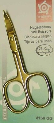 Pfeilring 4160GG Nail Scissors 24 Carat Hard Gold-Plated 90mm - Made in Germany