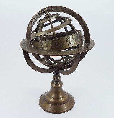 "Large Brass Armillary Sphere  / Nautical Decor 8"" / Vintage / Antique / Globes"