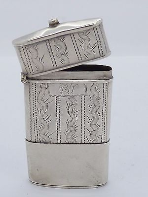 Vintage .925 Sterling Silver MATCH SAFE - Ships FREE USA