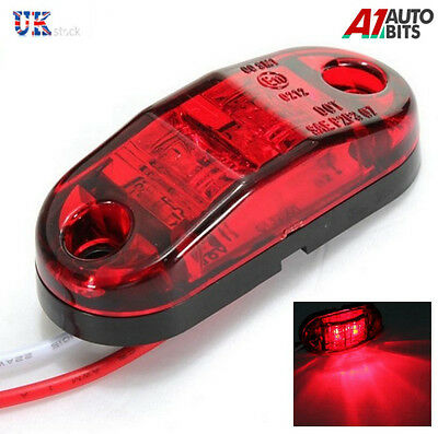 4 X Red 12V 2 Led Smd Side Rear Tail Marker  Lights Truck Trailer E-Marked Dot