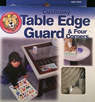 PRINCE LIONHEART CUSHIONY TABLE EDGE GUARD 12' + 4 CORNERS Brown New