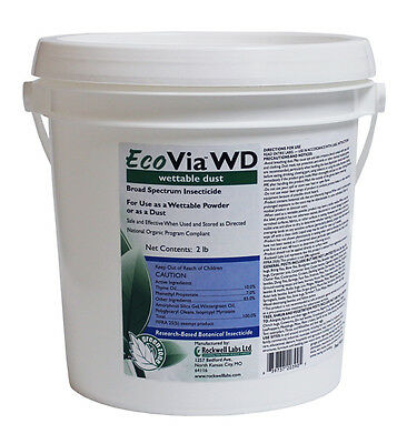 EcoVia WD 2 Lbs. Natural Insecticide Dust or Wettable Powder Kills All Insects
