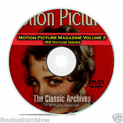Motion Picture Movie Magazine, Volume 2, 169 Issues, 1925 - 1941, DVD CD C12