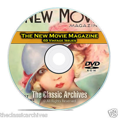 The New Movie Magazine, 69 Issues, Vintage Movie Fan History, DVD CD C21