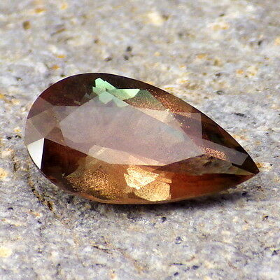 GREEN DICHROIC SCHILLER SUNSTONE-OREGON 3.16Ct FLAWLESS-JEWELRY/COLLECTOR GRADE