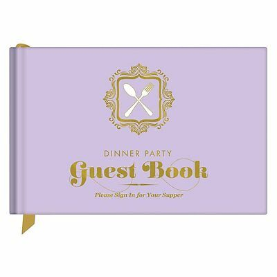 Let your guests eat, drink and be deliciously witty Dinner Party Guest Book New