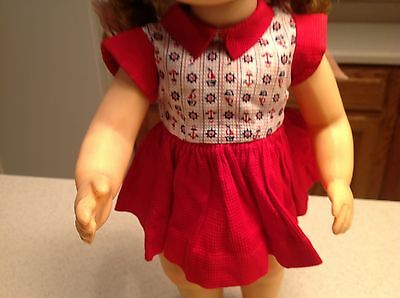 "Vintage Terri Lee Doll Clothes  Fits 16"" Doll Red Nautical Dress W/ Panties"