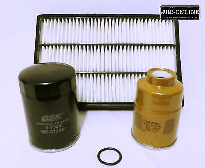 Mitsubishi Pajero Ns Nt Nw 3.2 4M41 Turbo Diesel Oil Air Fuel Filter Kit 06-On