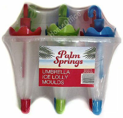 6 Umbrella Shaped  Ice Lolly Moulds  Make And  Freeze Your Own Ice Lollies Palm