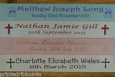 Personalised First Holy Communion Confirmation Ribbon Banner 1.2 Metres Long