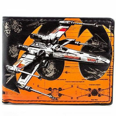 New Official Star Wars X-Wing Rebel Fighters Multicoloured Card Bi-Fold Wallet