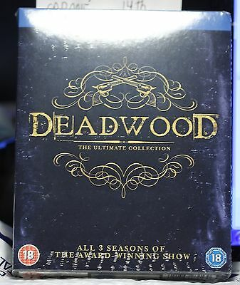New Deadwood Complete Series Blu-Ray! Season 1-3 Uk Version! Region Free! Sealed