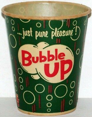 Vintage paper cup BUBBLE UP 4oz size with bubbles new old stock n-mint condition