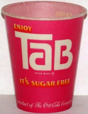 Vintage paper cup ENJOY TAB Coca Cola 4oz unused new old stock n-mint+ condition