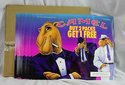 Lot of 30 Signs New Old Stock 1992 Store Advertising Joe Camel Cash Buy 2 1 Free