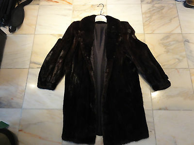 Ladies Black Mink Fur Coat