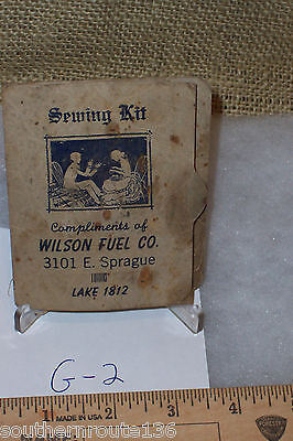 Vintage Sewing Kit Wilson Fuel Co from Tackle Box Mayflower Mending Kit G-2 Bx1