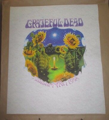 Grateful Dead 1995 Summer Tour Biffle T Shirt Test Print Pellon Poster Phish