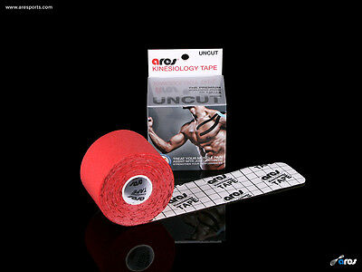 Ares Tape Uncut - Kinesiology Elastic Sports Tape PRO - Red - Support KT