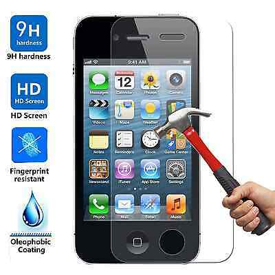 20x Wholesale Lot Tempered Glass Screen Protector for Apple iPhone 4 and 4S