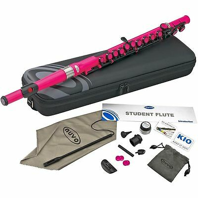 Nuvo Student Plastic Flute Kit Pink - Key of C - Waterproof