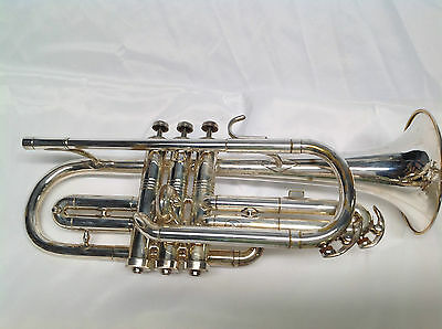Conn Cornet Silver Plated With Stars On The Bell! Great Price!
