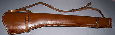 BROWN SMOOTH  LEATHER  SCABBARD WITH SHOULDER STRAP  (Rifle Holster)
