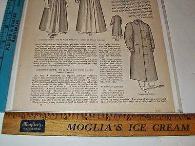 Rare Original VTG 1898 Delineator Hospital & Surgical Garments Ad Art Print