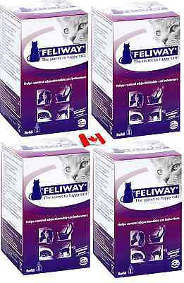 Ceva Feliway Refills 48 ml FOUR  Bottles Ship From Within Canada GET IT FAST!