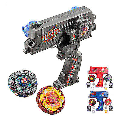 2 Beyblade + Hybrid Metal Fusion Beyblade Rapidity Fight Masters Set Toy Gift