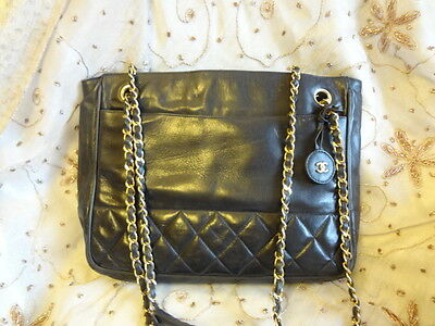 c73f6d29a41a Authentic VINTAGE CHANEL Large TOTE Neverfull Shopper Shoulder Bag Purse  C201