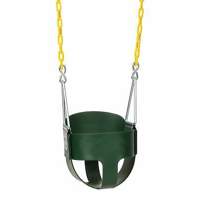 High Back Full Bucket Infant Swing Seat - Coated Chains - Fully Assembled
