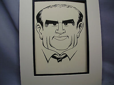 Ed Asner Caricature Drawing from Studio 54 New York Famous Faces by artist